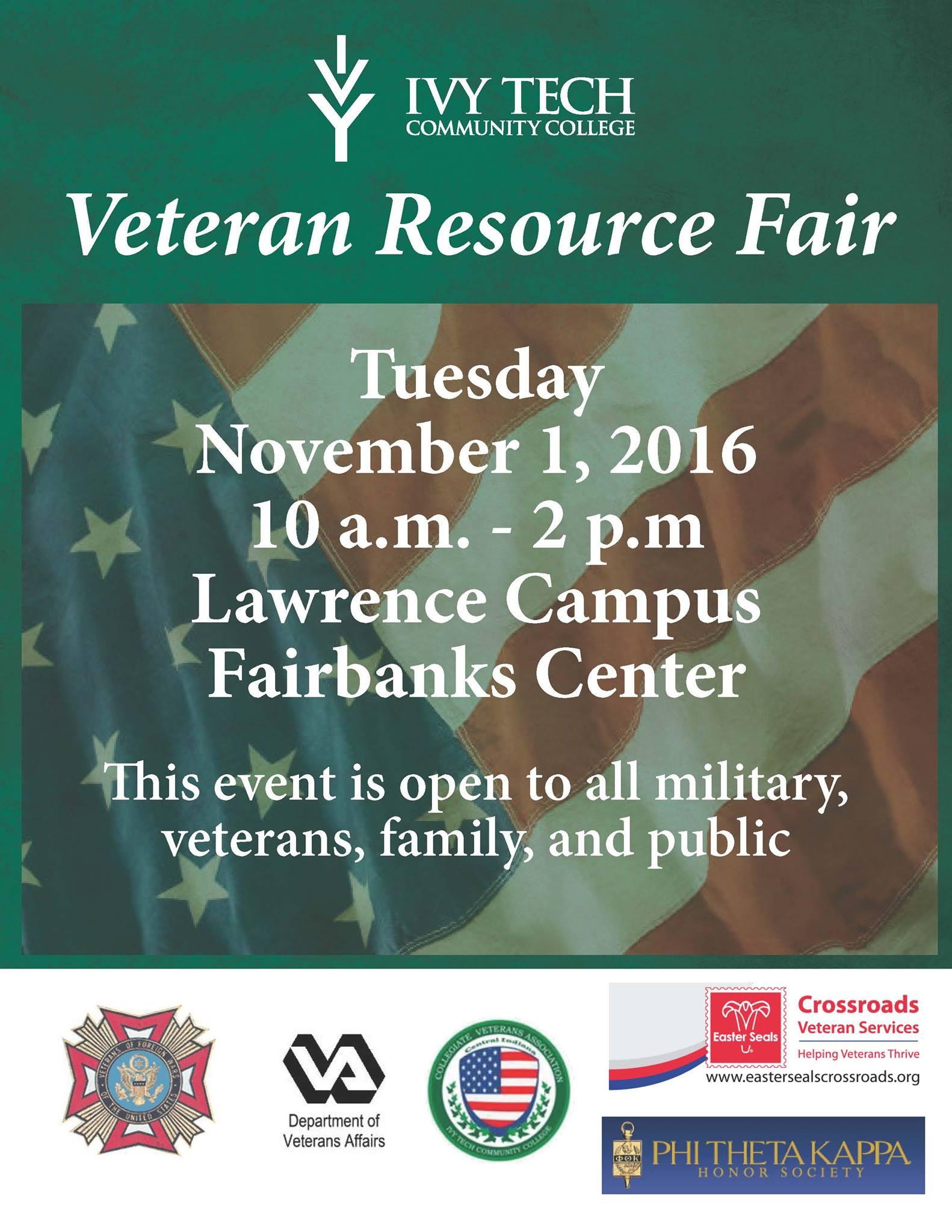 Veteran Resource Fair @ Fairbanks Center   Indianapolis   Indiana   United States